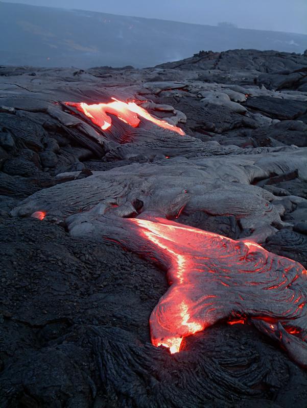 Lava Flow Hawaii Volcanoes National Park Big Island Hawaii