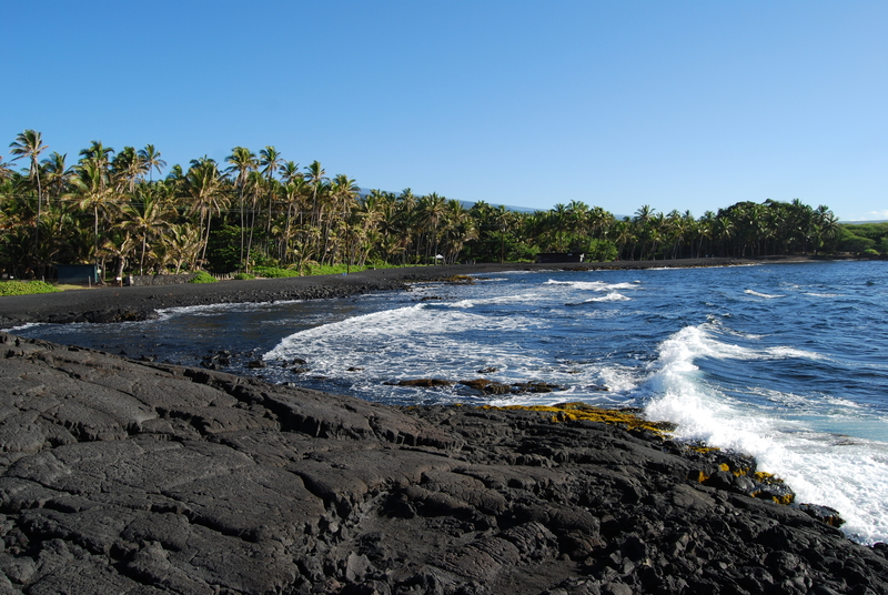 Punaluu Beach on Hawaii's Big Island