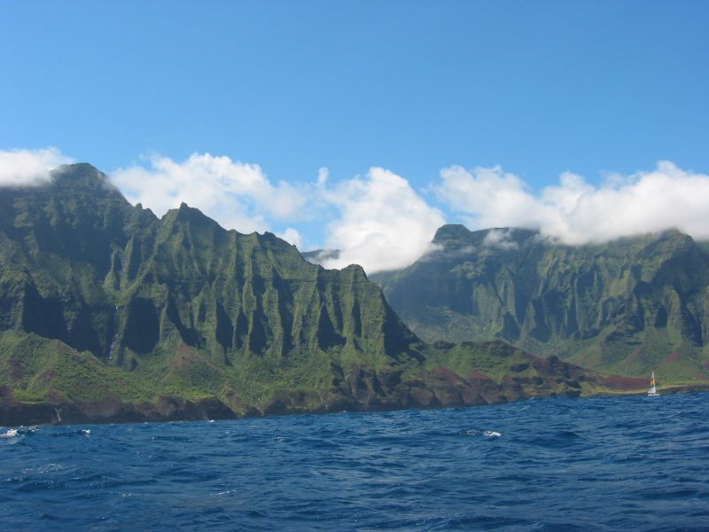 Napali Coast picture taken from boat