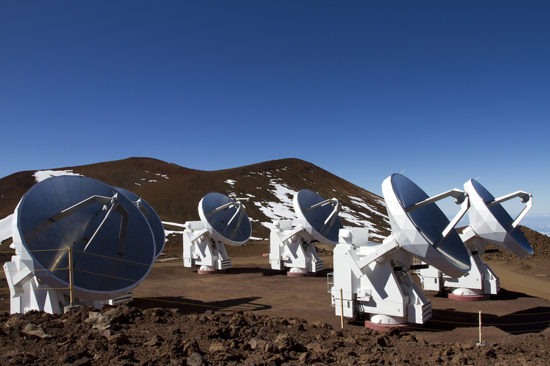 Telescopes at the top of Mauna Kea on Hawaii's Big Island