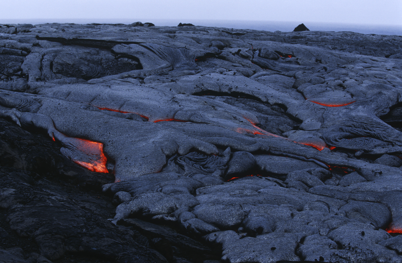 Lava Flow at Hawaii Volcanoes National Park on Hawaii's Big Island