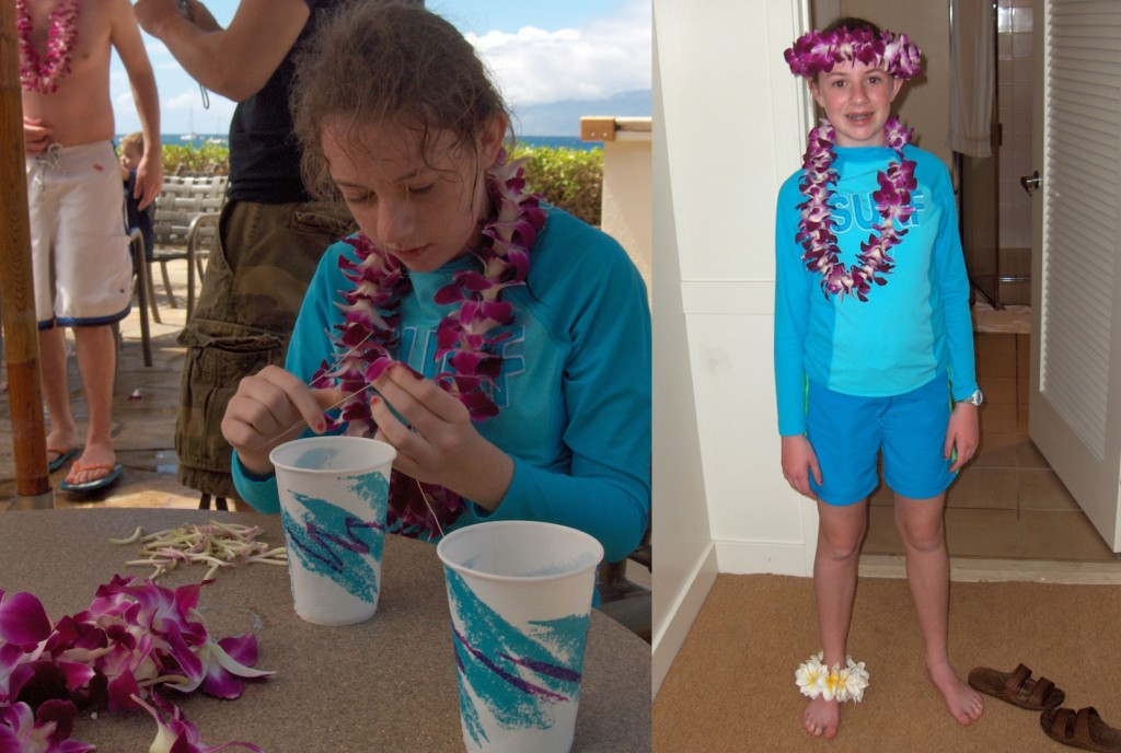making flower leis