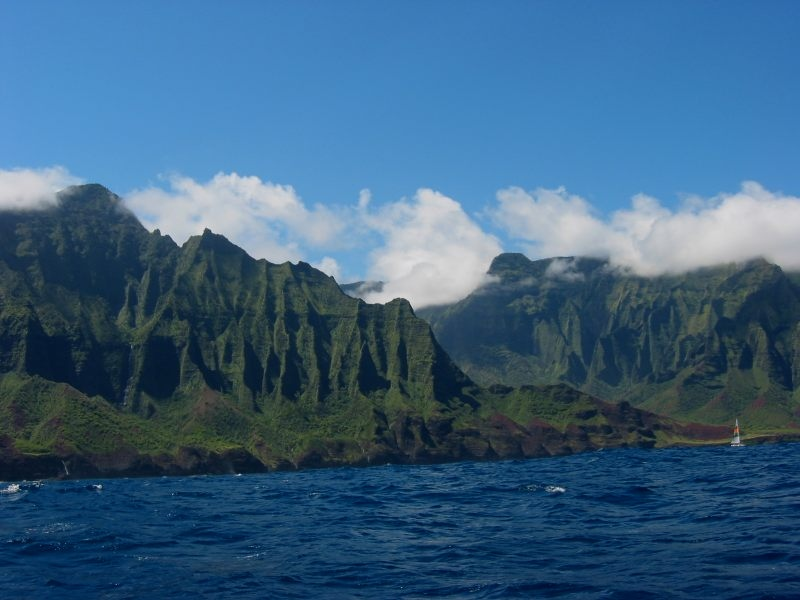 Lush Green NaPali coast on Kauai
