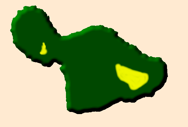Location of the Hawaiian state bird on the island of Maui