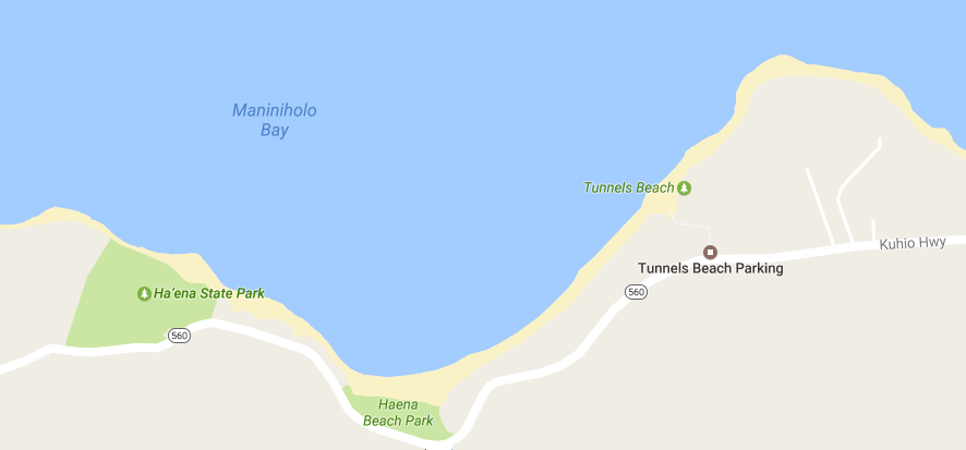 map to tunnels beach