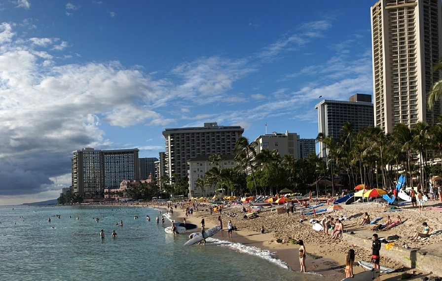 Waikiki beach on Oahu, Hawaii