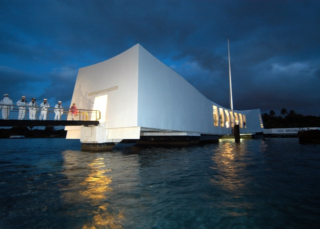 Pearl Harbor Monument on Oahu, Hawaii