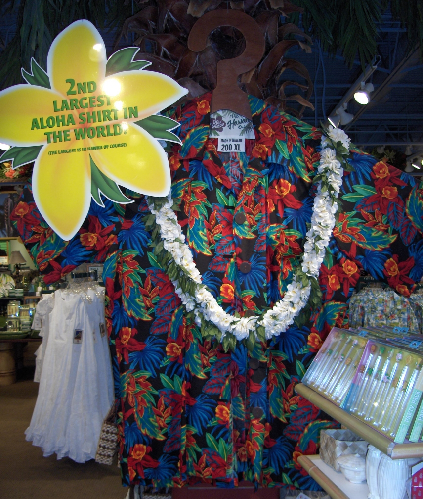 2nd Biggest Hawaiian Shirt sold at Hilo Hattie