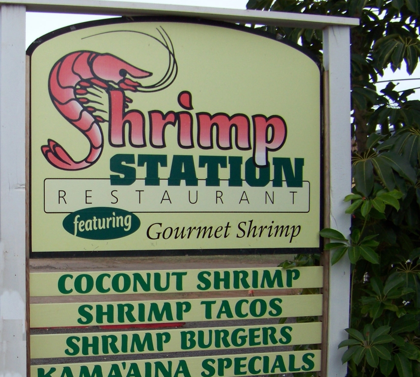 Shrimp Station, Waimea, Kauai, Hawaii